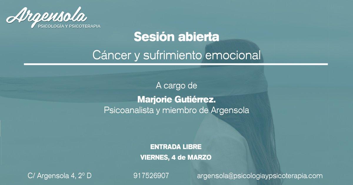 Sesión abierta: cáncer y sufrimiento emocional