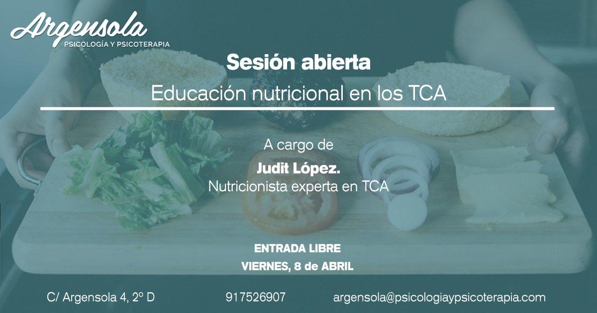 educación nutricional en los Trastornos de la conducta alimentaria