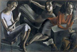 "Ángeles Santos - ""La Tertulia"" (1929, óleo sobre lienzo, Museo Nacional Centro de Arte Reina Sofía, Madrid)"
