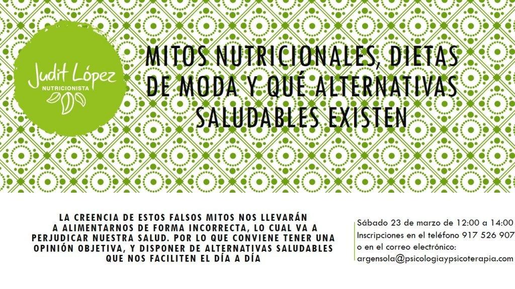 """""""Mitos nutricionales, dietas de moda y qué alternativas saludables existen"""""""
