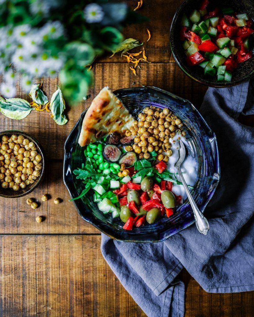 El vegetarianismo puede ser una dieta muy saludable y variada. Foto de un plato vegano.
